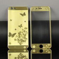 Panzerglas GOLD mit Schmetterlingsdesign Carbon Fiber iPhone 5-5S