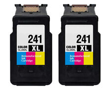 2PK Canon CL241XL Tri-color Remanufactured Ink Cartridges