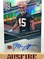 NFL Malik Jefferson Cincinnati Bengals 2018 Panini Spectra Rookie Autographs