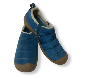 Womens Keen Howser Slip-On Shoes 9 Blue Quilted Lined