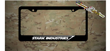Stark Industriesl Iron Man Plastic License Plate Frame Vinyl Decal Avengers