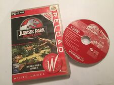 PC CD-ROM juego Jurassic park operación genesis o/s Windows 98 me 2000 XP & >