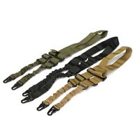 Tactical Dual 2 Two Point Nylon Adjustable Bungee Rifle Gun Sling Strap D