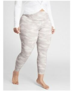 Athleta Womens Size 2X Elation Camo 7/8 Tight Camouflage Legging In Taupe