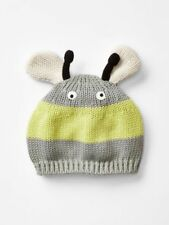 40510185d9c GAP Baby ~ Size Newborn ~ Gray Yellow Bumble Bee Sweater Beanie Hat ~ NWT