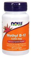 NOW Foods Methyl B-12, 5000 mcg, 60 Lozenges