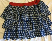 Lane Bryant Red White Blue Dot Tiered Ruffle Skirt Plus Size 22/24 NWT