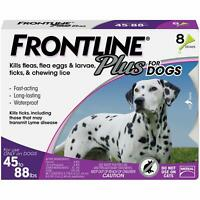 Frontline Plus Flea and Tick Treatment for Large Dogs (45-88 Pounds) 8 Doses