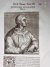 1584 André Thévet.Xilo. GREGOIRE LE GRAND.SICILIA..!
