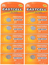 ☀️☀️☀️☀️☀️ 10 x CR1225 3V Lithium Knopfzelle 50 mAh ( 2 Card a 5 Batterien )EAST