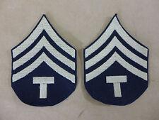 US ARMY WW2 Ranks Paar Dienstgradabzeichen T/4 Technician Rang Abzeichen Uniform