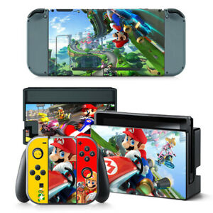 Mario Kart Vinyl Decal Skin Sticker for Nintendo Switch with Screen Protector
