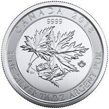 2018 $8 Silver Canadian Maple Leaf 1.5 oz .9999 fine Silver RCM SuperLeaf