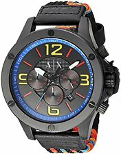 Armani Exchange Men's AX1526 'Street' Chronograph Colorful Nylon Watch