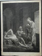 Gravures religion  JESUS en visite des cachots, prison, cellule