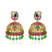 India Jhumka Earring Bollywood Ethnic Gypsy Boho Earrings Hippie Style Jewelry