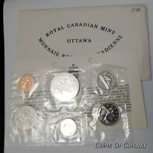 1971 Canada Prooflike 6 Coin Original Set Multiple Sets Available #coinsofcanada