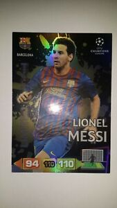 Panini Champions League 2011 2012 LIMITED MESSI BARCELONA  EDITION ADRENALYN XL