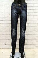 Jeans CASUCCI Donna Taglia Size 42 Pantalone Pants Woman Regular Fit Cotone Blu