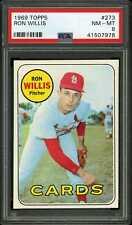 1969 Topps #273 Ron Willis Cardinals PSA 8