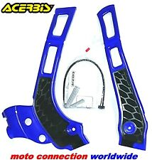 YAMAHA YZ125 YZ250 ACERBIS X-GRIP FRAME GUARDS BLUE YAMAHA YZ 2005-2019    21669