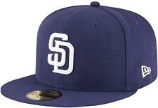 New Era San Diego Padres AC Performance Home 59fifty Fitted Cap MLB Authentics