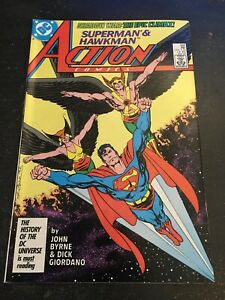 Action Comics#588 Incredible Condition 9.4(1987) Hawkman/Hawkgirl, Byrne Art!