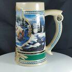 Vtg Coors Beer Stein Winter 1995 Rocky Mountain Waterfall Heritage Series #20047