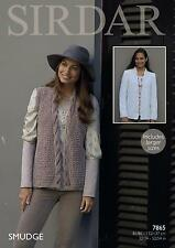 Sirdar 7865 Knitting Pattern Womens Jacket and Waistcoat in Sirdar Smudge