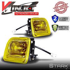 96-98 Civic EK JDM Yellow Fog Lights Front Bumper Lamps FULL KIT SET PAIR