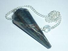 PENDOLINO GRANDE OCCHIO DI TIGRE BLU AQUILA A+ pendolo pietra naturale cristallo
