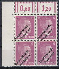 Lokalausgabe Meißen Plattenfehler Michel 32 PF II 4er Block Eckrand Postfrisch
