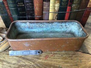 OLD copper PLANT TROF pot garden PLANTER VINTAGE FRENCH Jardinière LARGE HERBS🌈