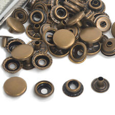 15/50/100 Antique Brass 12.5/15/17mm Poppers Snap Fasteners Press Studs Buttons