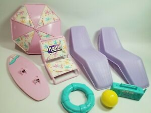 Vintage Maxie by Hasbro Beachy Accessories and Barbie Purple Loungers Furniture