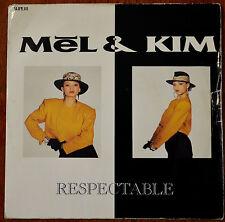 "Mel & Kim – Respectable 7"" – SUPE 111 – VG-"
