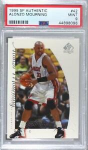 1999-00 SP Authentic Alonzo Mourning #42 PSA 9 HOF