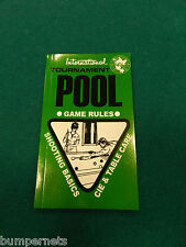 Brand New McDermott International Tournament Pool Rule Book