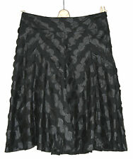 PHASE EIGHT (UK12 / EU40) BLACK LINED SKIRT WITH APPLIQUED CIRCLE DETAILING