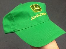 John Deere Green Twill Cap Green JD Logo Hat NEW NWOT Tractor Farm 100% Cotton