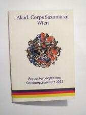 Wien - Corps Saxonia - Semesterprogramm - SS 2011 / Studentika