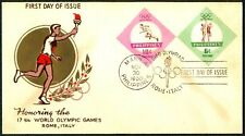 Philippine 1960 Honoring the 17th World Olympic Games Rome, Italy FDC - A