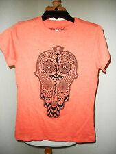 Threefortwelve The Hamsa Fatima's Hand Orange T-shirt NEW Size: Medium