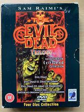 Evil Dead Trilogy DVD Box Set Cult Horror Collection 4-Disc Anchor Bay UK