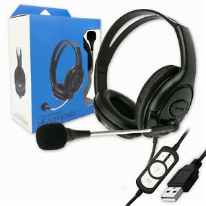 USB WIRED COMPUTER HEADSET with STEREO MICROPHONE | BUSINESS ZOOM SKYPE PC CHAT