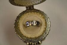 14k Mens White Gold  Diamond Ring .32 TCW Wedding Fashion L@@K