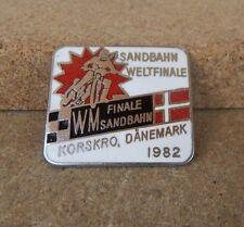 vintage 1982 Speedway World final Badge Korskro Denmark