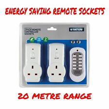 Wireless Electric Socket Power Switch With Remote Control Home Mains UK Plug X2