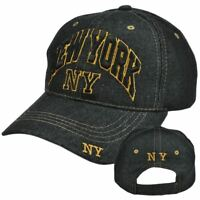 New York NY US USA Country Denim Jean  Curved Bill Constructed Hat Cap