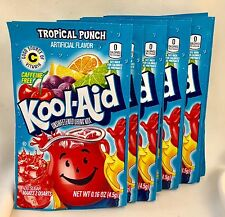 25 Tropical Punch Kool-Aid Drink Mix Gluten Free Unsweetened Fresh Exp 2020